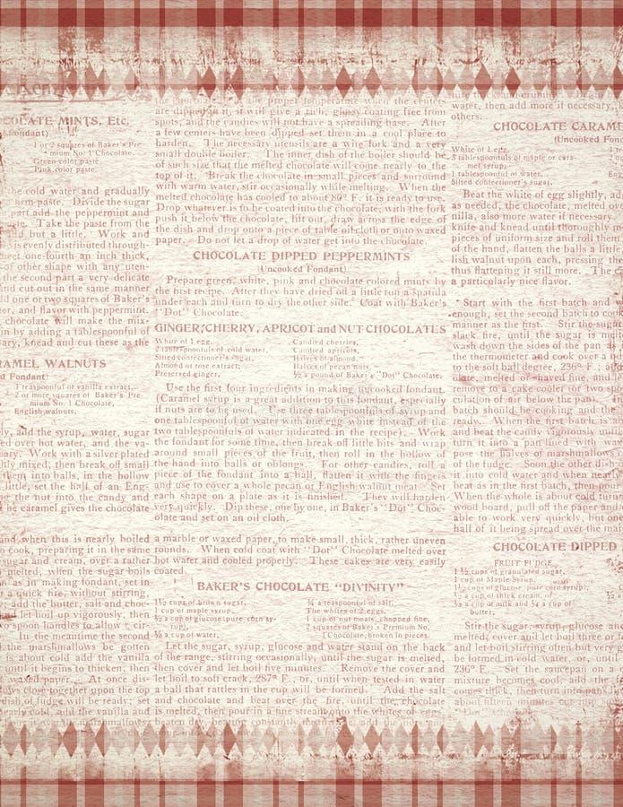 Textura retra del fondo del caramelo de hierbabuena del vintage - roja - blanca - textura de la Navidad stock de ilustración
