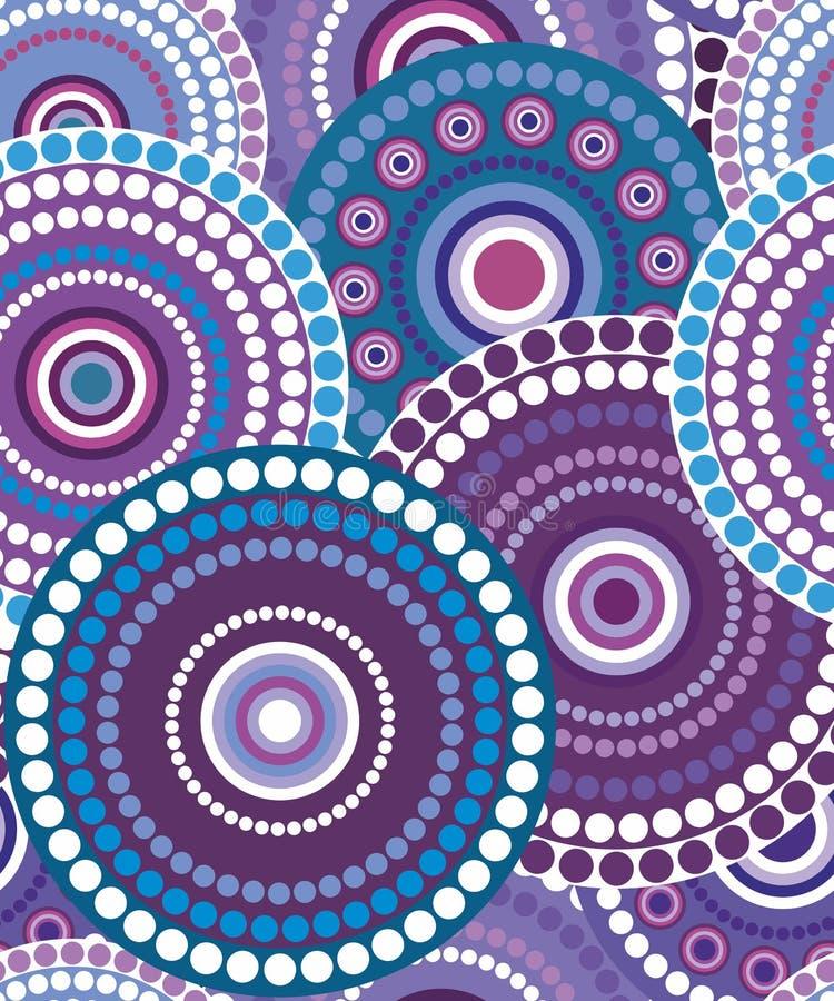 Textura retra inconsútil 3 del círculo stock de ilustración