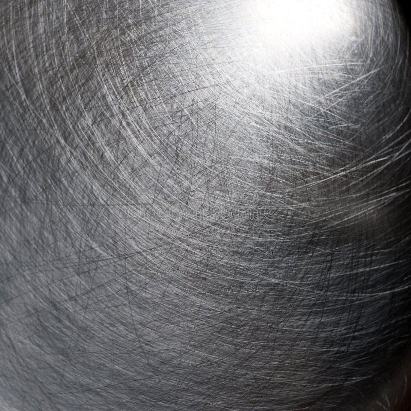 Textura riscada do metal, prata fotografia de stock