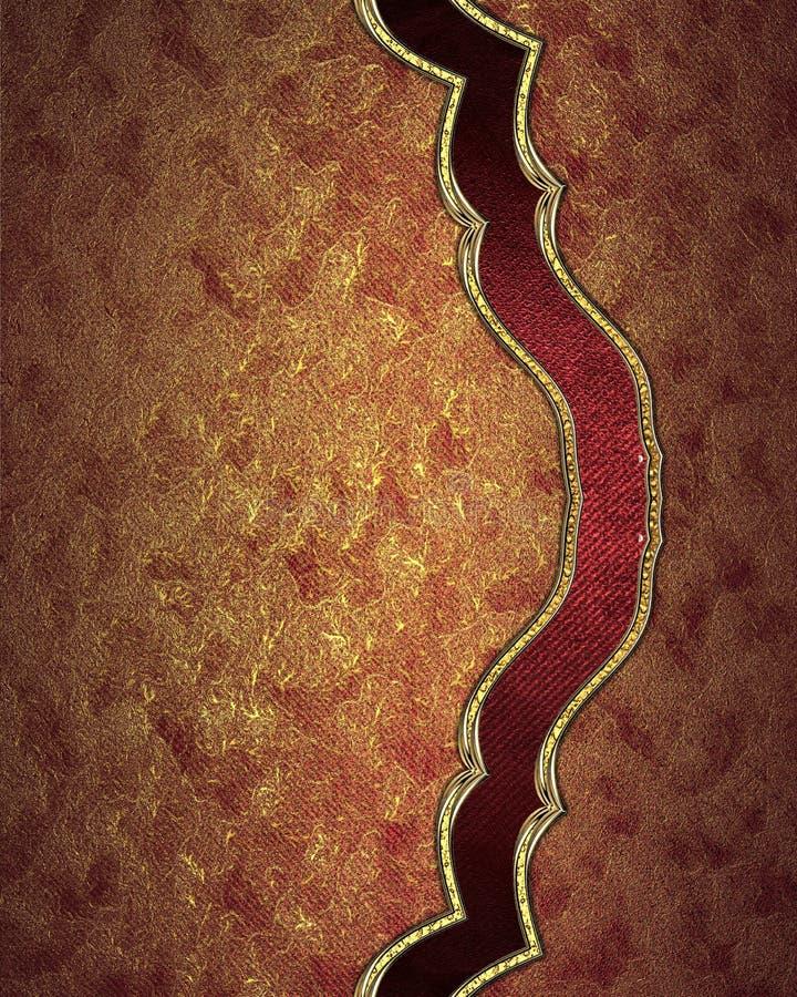 Textura roja abstracta con el ornamento Plantilla para el diseño copie el espacio para el folleto o la invitación del aviso, back ilustración del vector