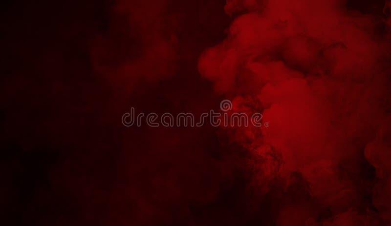 Textura roja abstracta del humo Fondo de la niebla del misterio fotos de archivo libres de regalías