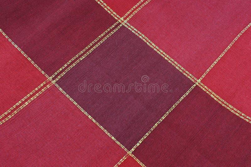 Textura Roja De La Tela Foto De Archivo. Imagen De Tela