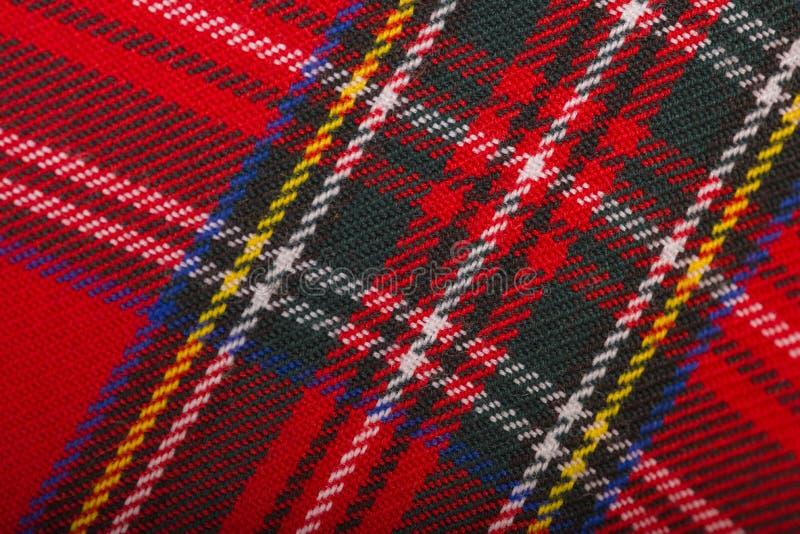 Textura roja de la tela de las lanas fotografía de archivo libre de regalías