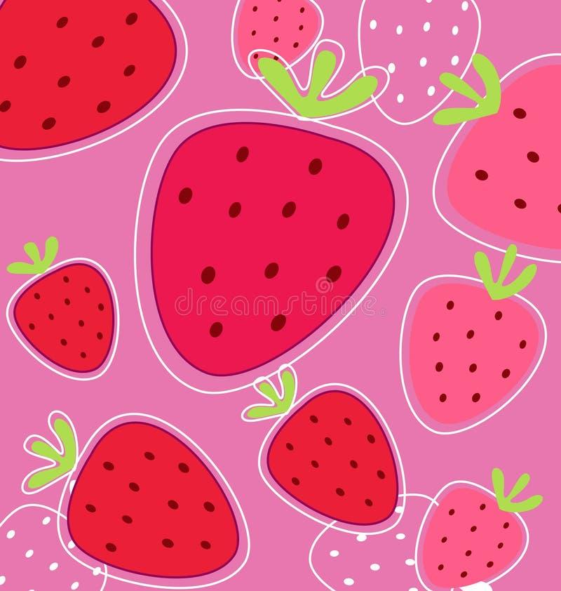 Textura roja del fondo de la fresa ilustración del vector