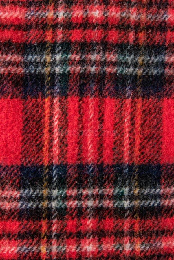 Textura roja del fondo de la tela de la franela de la bufanda fotografía de archivo