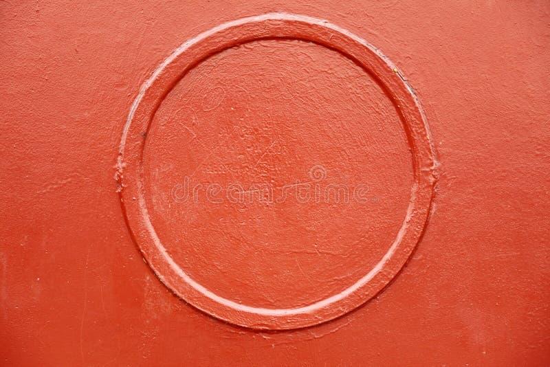 Textura roja del fondo del círculo del metal viejo imágenes de archivo libres de regalías