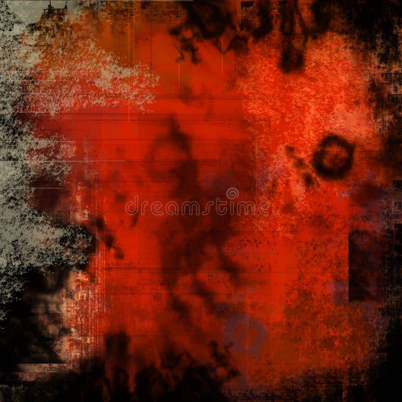 Textura roja del grunge ilustración del vector