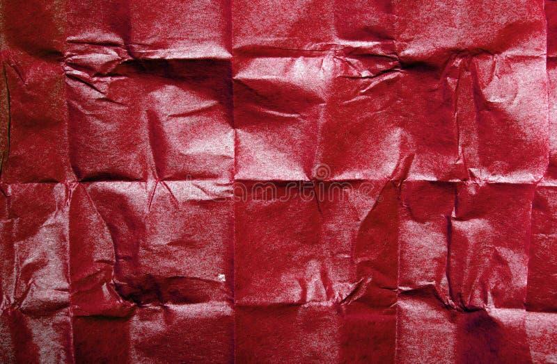 Textura roja del papel seda para el fondo imágenes de archivo libres de regalías