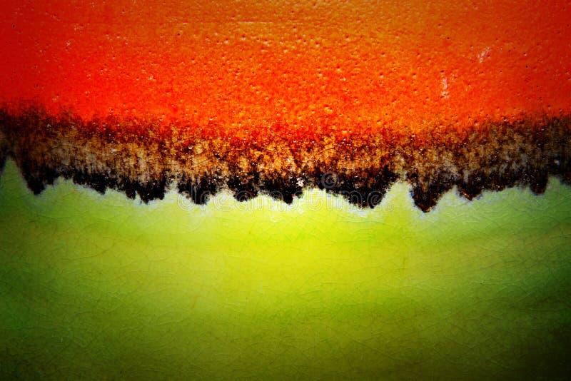Textura roja y verde de la superficie de cerámica imágenes de archivo libres de regalías