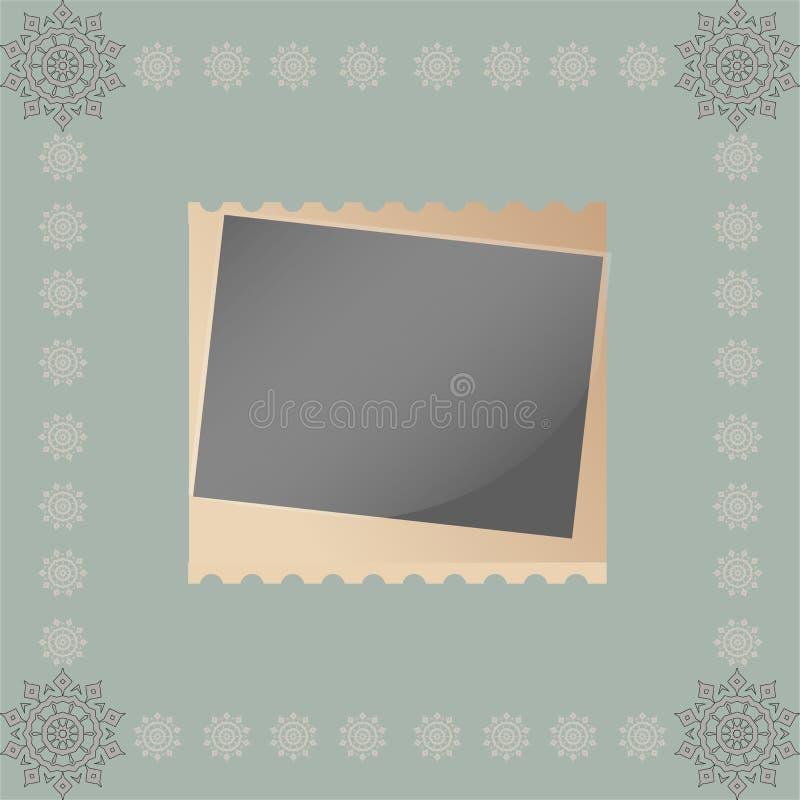 Textura romántica del papel del ornamento del cordón del vintage stock de ilustración