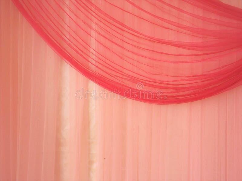 Textura rosada de la cortina fotografía de archivo