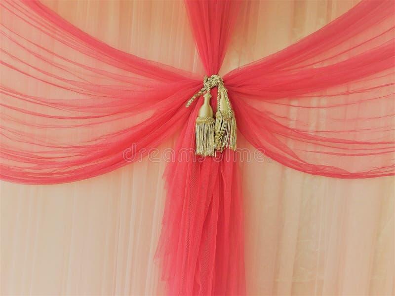 Textura rosada de la cortina imagen de archivo libre de regalías