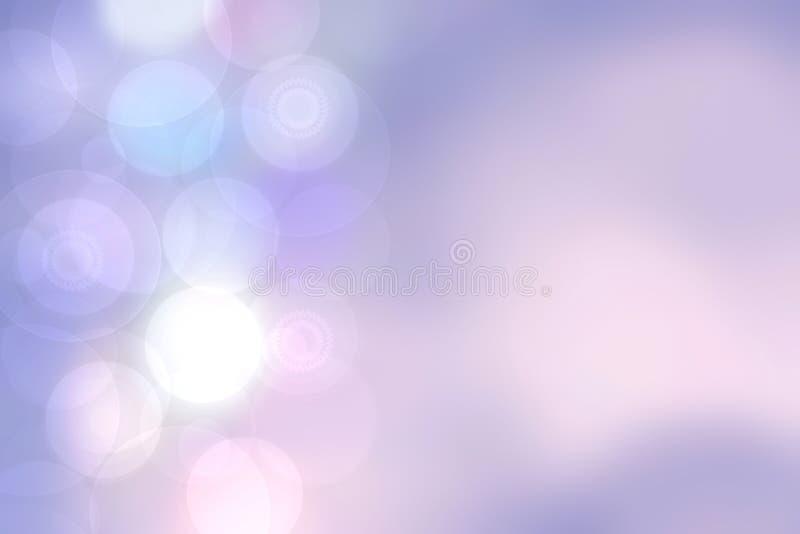 Textura roxa abstrata do fundo do rosa do inclina??o com c?rculos e luzes borrados do bokeh Espa?o para o projeto ilustração stock