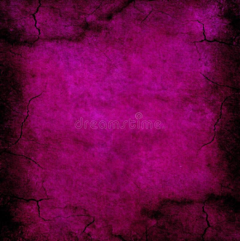 Textura roxa escura do Grunge Rachado e afligido ilustração do vetor