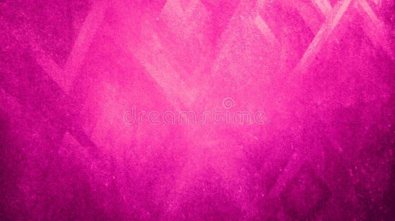 Textura seca ?spera de los tri?ngulos de la agudeza del color rosado suave del extracto reflejada en wallpape de papel azul del f stock de ilustración