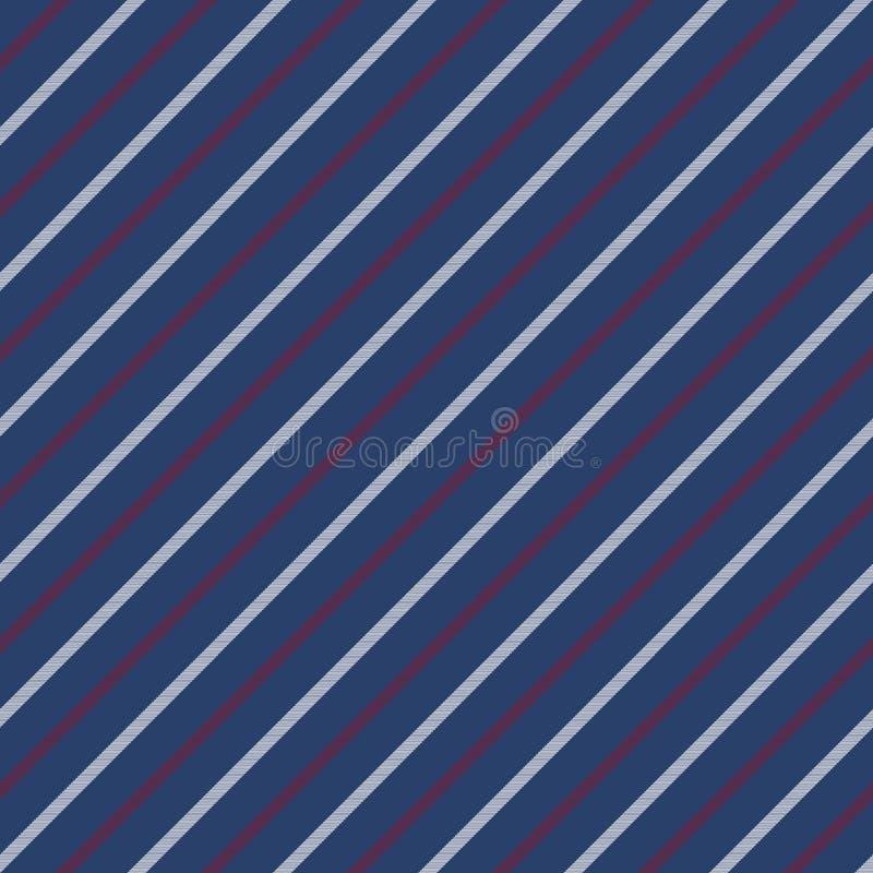 Textura sem emenda azul da diagonal do teste padrão das listras ilustração do vetor