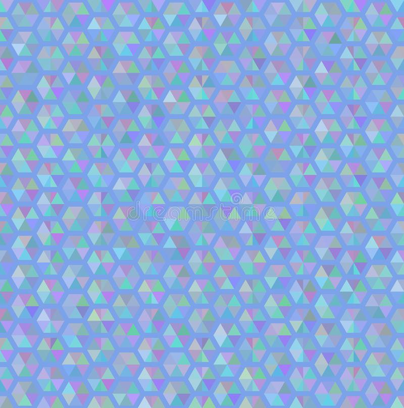 Textura sem emenda azul do teste padrão do hexágono ilustração stock