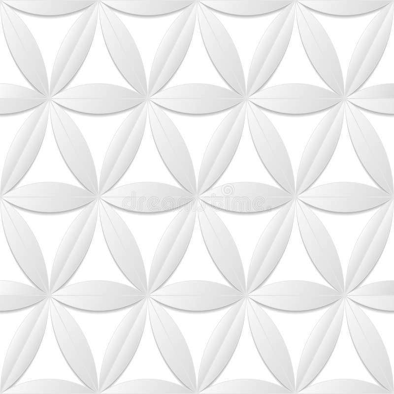 Textura sem emenda branca decorativa Fundo floral creativo ilustração royalty free