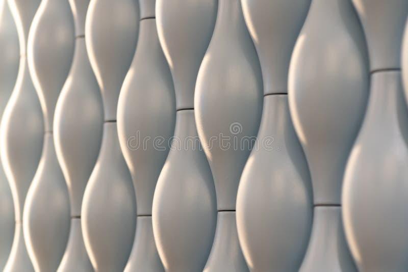 Textura sem emenda branca Fundo ondulado Decora??o da parede interior teste padr?o do painel de parede 3D interior fundo branco d fotos de stock royalty free
