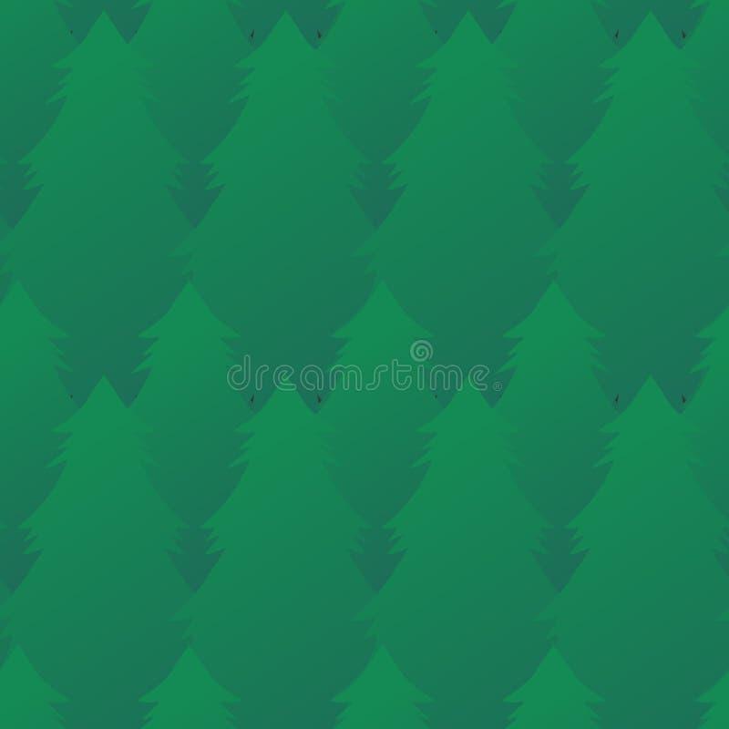 Textura sem emenda com abeto verdes em seguido ilustração stock