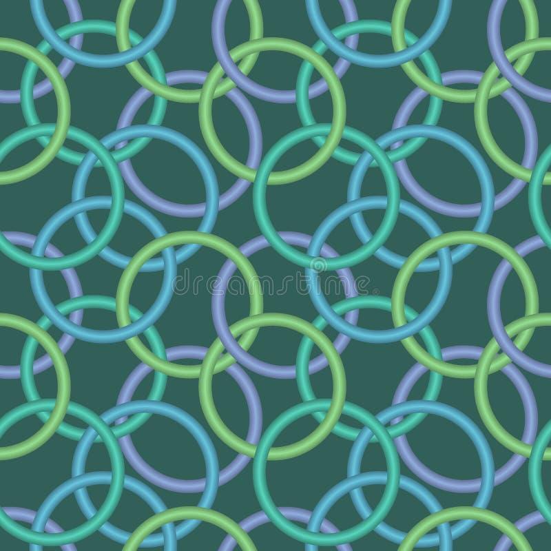 Textura sem emenda com anéis 3d ilustração royalty free