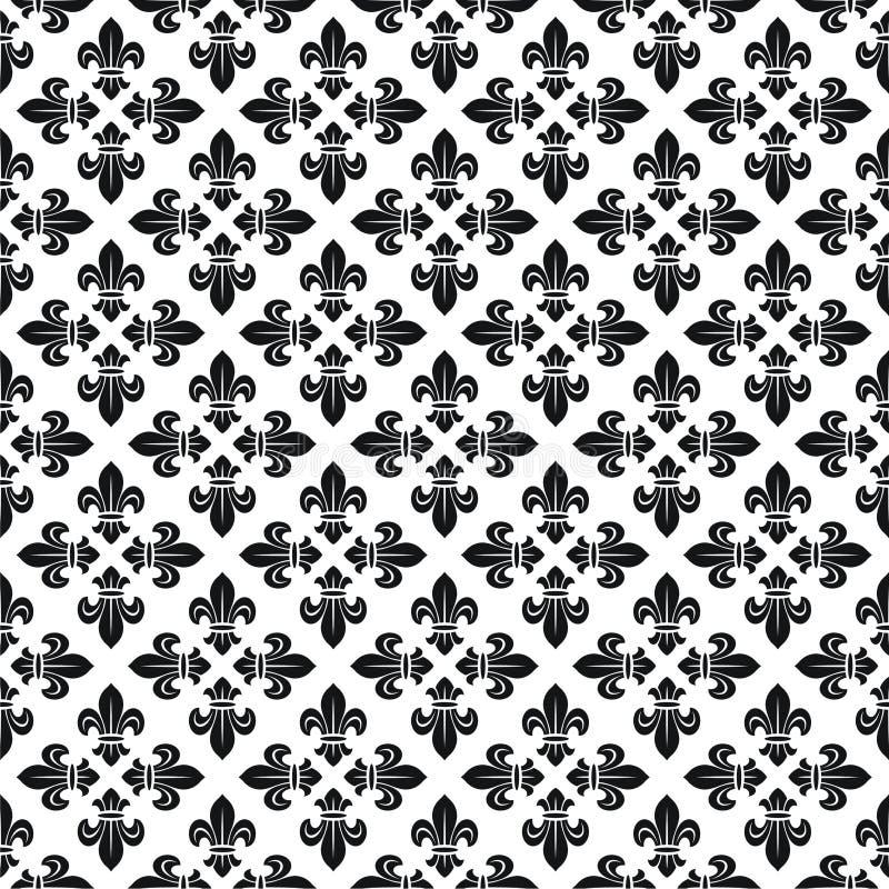 Textura sem emenda com flor de lis ilustração do vetor
