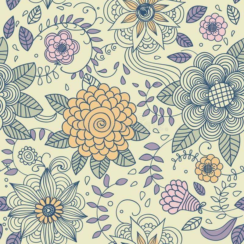 Textura sem emenda com flores ilustração stock