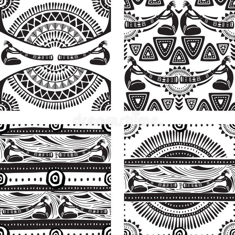 Textura sem emenda com jogo dos músicos ilustração stock