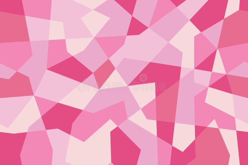 Textura sem emenda cor-de-rosa com triângulos, teste padrão infinito do mosaico Geom?trico abstrato ilustração stock