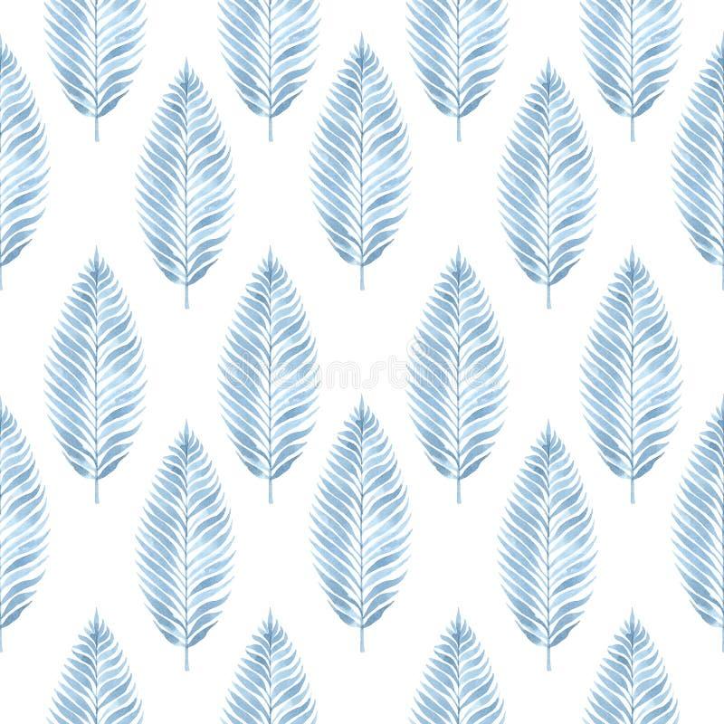 textura sem emenda da aquarela com a imagem das folhas ilustração royalty free