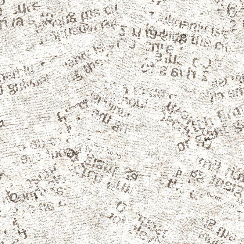 Textura sem emenda da colagem do grunge do vintage do jornal foto de stock