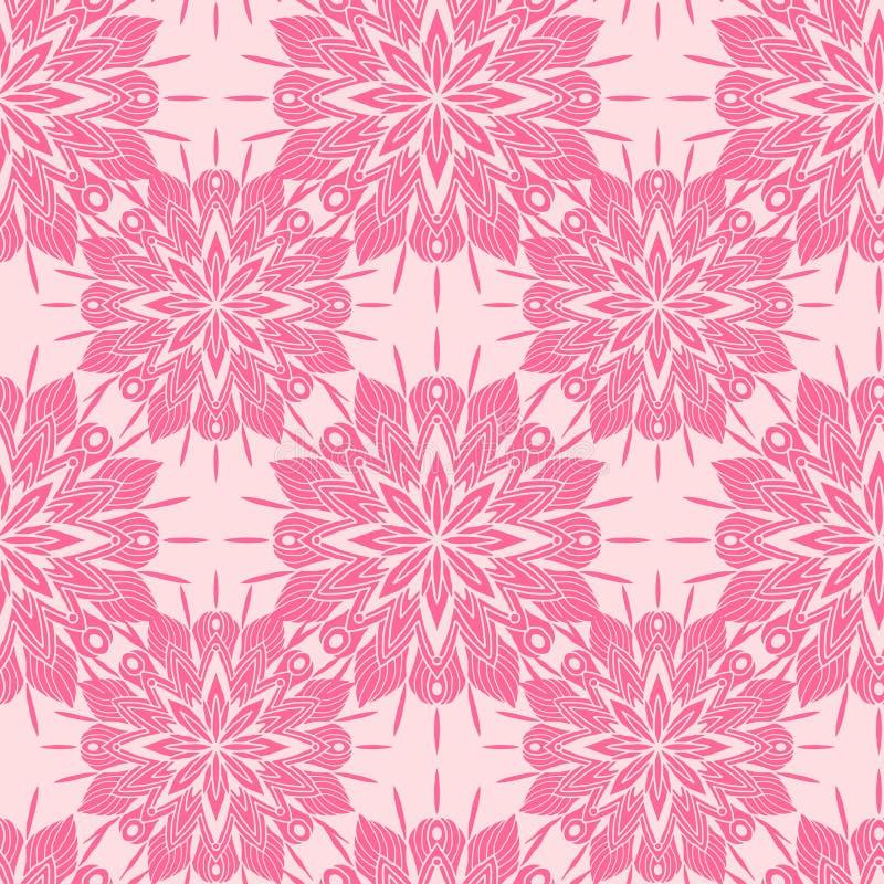 Textura sem emenda da elegância com fundo floral Cópia do teste padrão para o projeto de matéria têxtil r ilustração stock