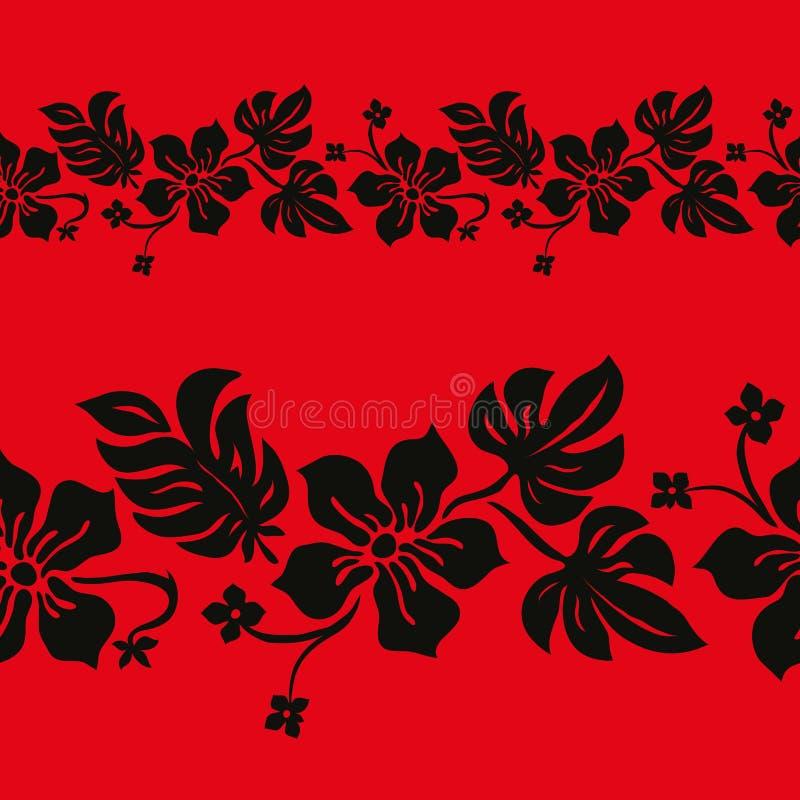 Textura sem emenda da flor e da folha ilustração stock