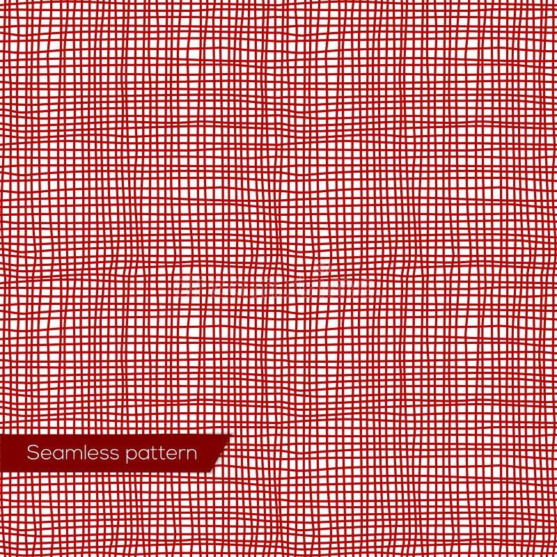 Textura sem emenda da lona vermelha ilustração royalty free