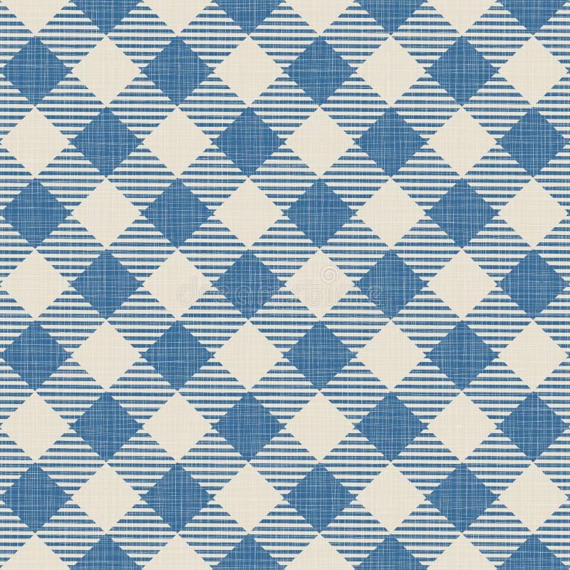 Textura sem emenda da manta azul ilustração stock