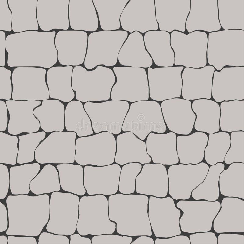Textura sem emenda da parede de pedras ilustração stock