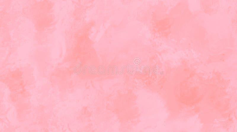 Textura sem emenda da telha do fundo cor-de-rosa da aquarela ilustração do vetor