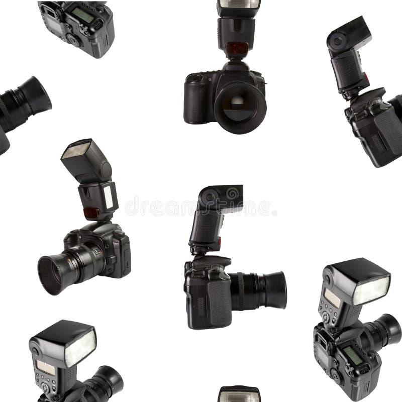 Textura sem emenda das câmeras da foto de Digitas fotografia de stock royalty free