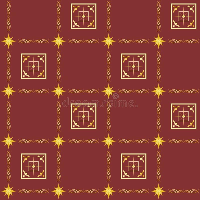 Textura sem emenda de Brown com quadrados ilustração royalty free