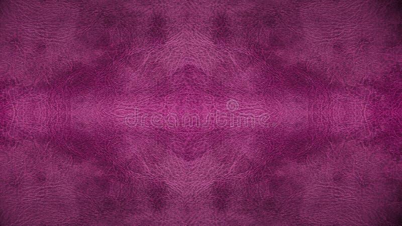 Textura sem emenda de couro cor-de-rosa roxa usada do fundo do teste padrão para o material da mobília foto de stock royalty free