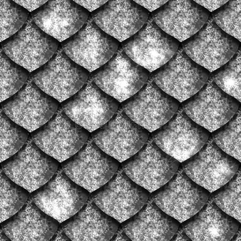 Textura sem emenda de escalas do dragão, pele do réptil ilustração royalty free