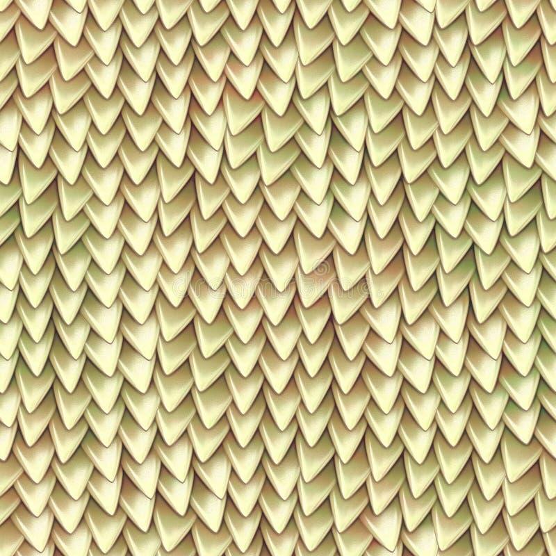 Textura sem emenda de escalas metálicas do dragão Teste padrão da pele do réptil foto de stock royalty free