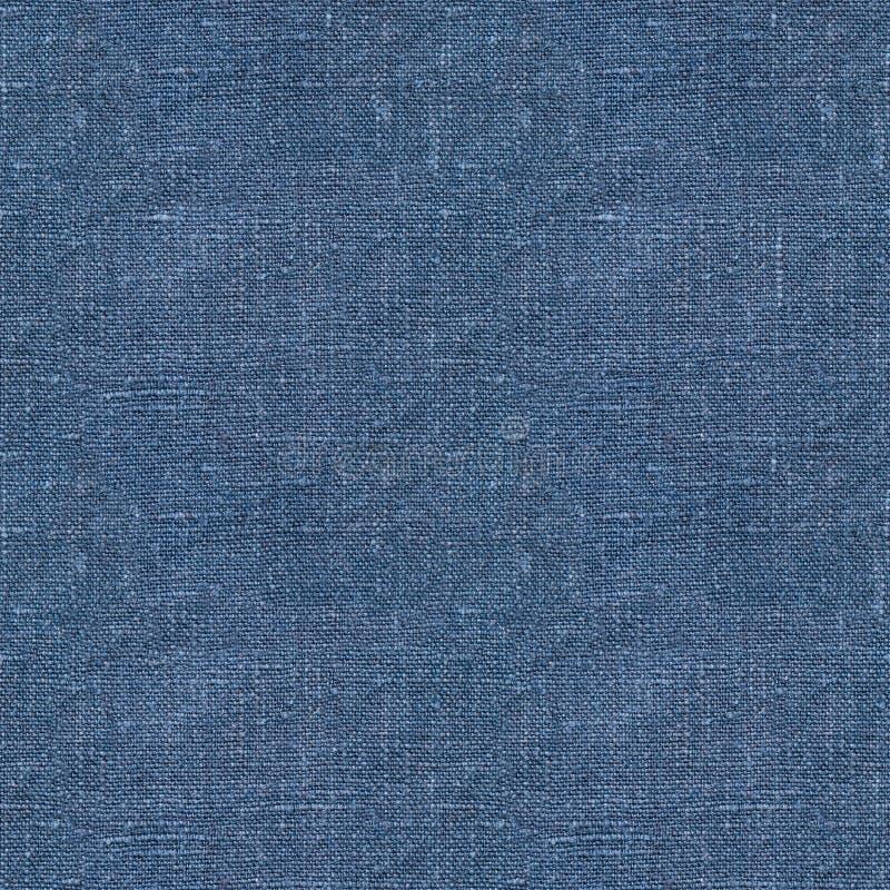 Textura sem emenda de linho azul foto de stock