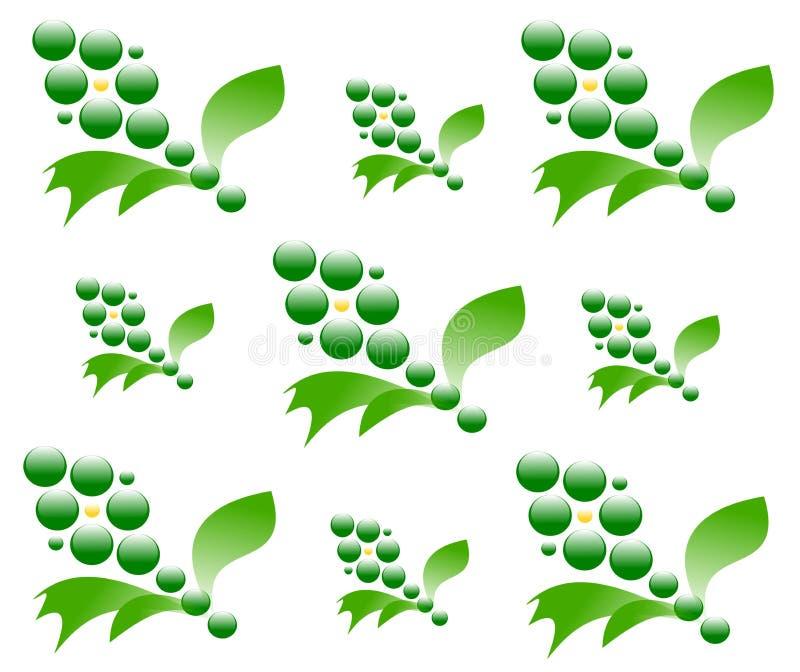 Textura sem emenda de tiragem das flores ilustração royalty free