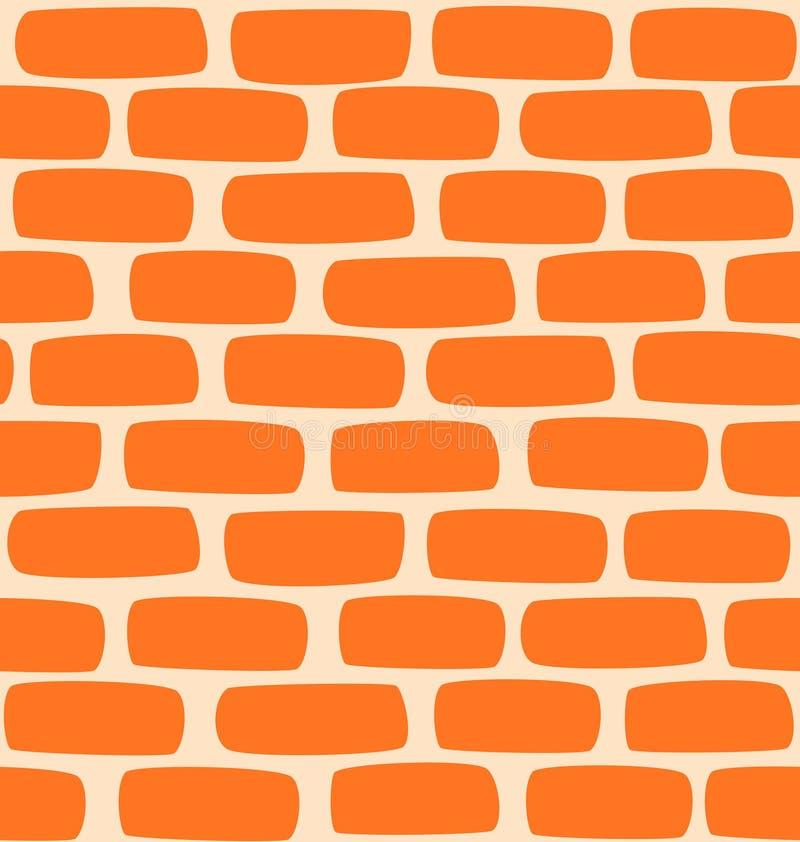 Textura sem emenda de uma parede de tijolo dos desenhos animados ilustração royalty free