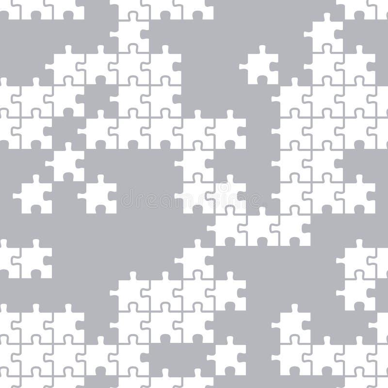Textura sem emenda de uma parte do enigma Teste padrão para telas e empacotamento de vários produtos ilustração royalty free