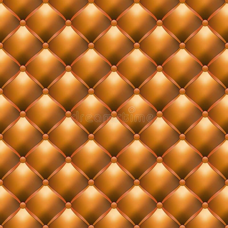 Textura sem emenda de Upholstery de couro ilustração stock