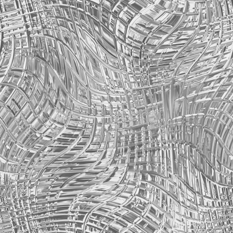 Textura sem emenda de vidro com teste padrão para a janela ilustração stock