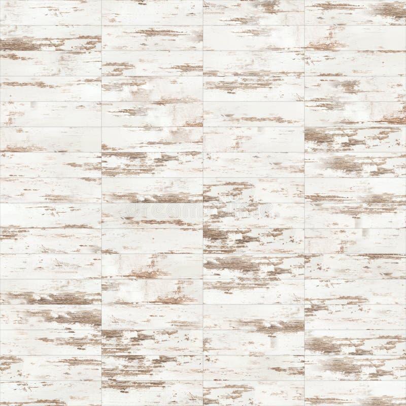 Textura sem emenda descorada linear do assoalho do parquet natural ilustração do vetor