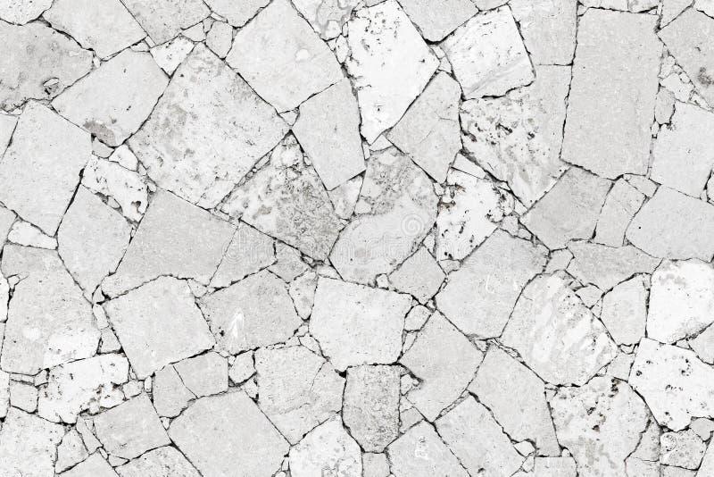 Textura sem emenda detalhada branca do fundo da parede de pedra imagem de stock
